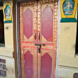Door of the Tibetan monastery — Stock Photo