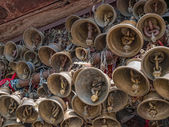 Bells of the old temple Chamunda Mata — Photo
