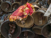 Bells of the old temple Chamunda Mata — Stock Photo