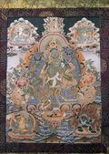 Tibetana thangka dipinto — Foto Stock