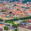 King Tomislav square in Zagreb. Croatia — Stock Photo