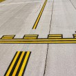 Airport stop lines — Stock Photo