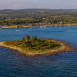 Adriatic landscape - small island — Stock Photo