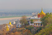 View from Sagaing hill — 图库照片