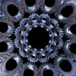 Stock Video: Multiplied gears background