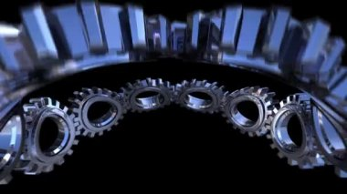 Gears twisting — Vídeo de stock