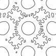 Stock Video: Looping rotation of outline gears