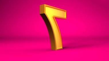 Golden number seven — Stockvideo