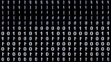 Binary background — Stock Video
