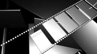 3D filmstrip motion — Stock Video