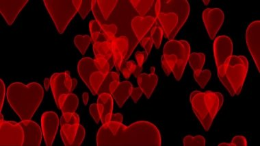 Hearts background. — Stok video