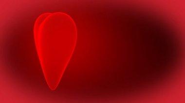 Animasyonlu 3d parlak kalp — Stok video