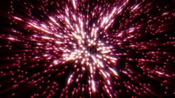 Explosión de amor con rayos de luz — Vídeo de stock