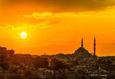 Istanbul sunset — Stock Photo