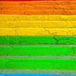 Rainbow stairs — Stock Photo