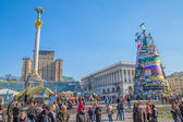 Euromaidan revolution in kiew — Stockfoto