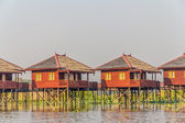 Inle lake hotels — Stock Photo