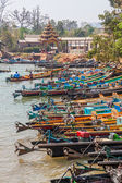 Indein port at Inle lake — Stok fotoğraf