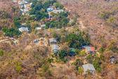Mount popa görünümü köyü — Stok fotoğraf