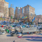 Euromaidan revolution in Kiev — Stock Photo