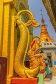 Mount Popa, decoration on votive stupas — Stock Photo