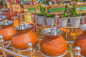 Sagaing hill - clay pots with water — Stock Photo