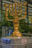 Menorah at international airport Ben Gurion — Stock Photo
