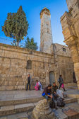 Omer mosque minaret in Jerusalem — Stock Photo