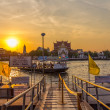 Bangkok City river port — Stock Photo