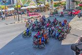 Motociclistas de banguecoque — Foto Stock