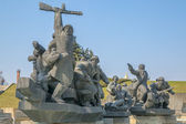 Soviet era WW2 memorial in Kiev Ukraine — Stock Photo