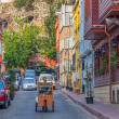 Istanbul old street traffic — Stock Photo