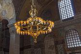 Chandelier in Hagia Sophia Istanbul — Stock Photo