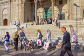 Passers-by New Mosque (Yeni Cami) — Stock Photo