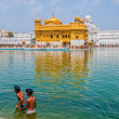 Two Sikh boys at Golden Temple — Stock Photo