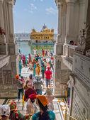 Entering hallway Golden Temple in Amritsar — Stock Photo