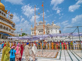 Waiting in line, Golden Temple — Stock Photo