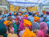 Waiting in line at Golden Temple — Stock Photo