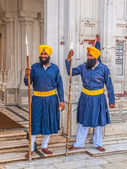 Sikh Guards at Golden Temple — Stock Photo