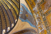 Painted ceiling in Hagia Sophia Istanbul — Stock Photo