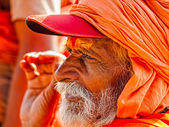 Sadhu in Haridwar — Stock Photo