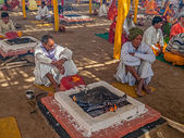 Hindu religious ritual Puja — Stock Photo