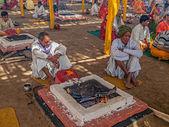Hindu religious ritual Puja — 图库照片