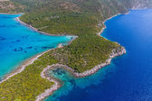 Adriatic landscape at Peljesac peninsula — Stock Photo