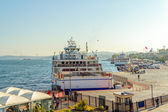 Ferries in Istanbul harbor — Stock Photo
