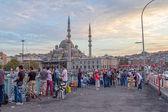 Life on Galata Bridge, Istanbul — Stock Photo