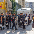 Police on Istiklal Avenue in Istanbul — Stock Photo