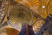 Restoration scaffolding and ceiling, Hagia Sophia — Stock Photo