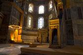 Hagia Sophia Minbar Interior Istanbul — Stock Photo