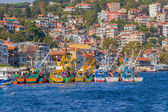 Fishing boats moored in Sariyer — Stock Photo